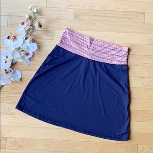 TITLE NINE beach skirt size Small blue orange